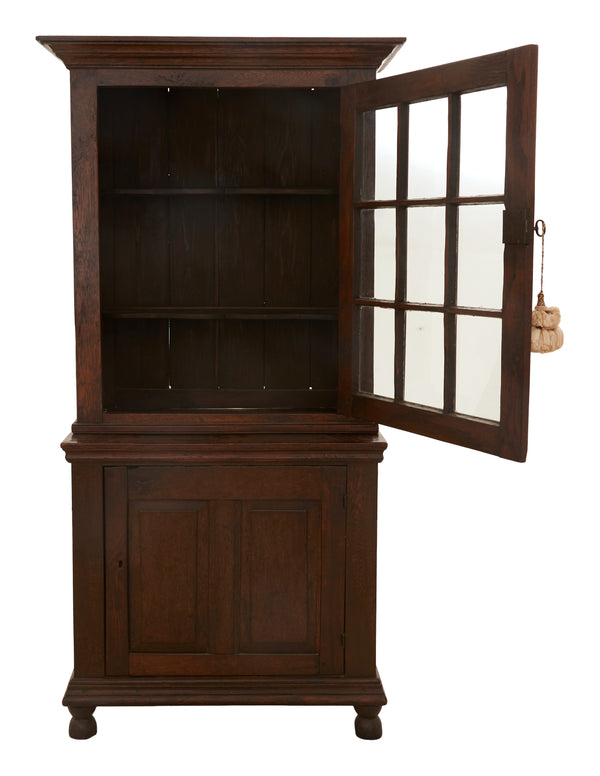 Antique French Provincial Stepback Cupboard