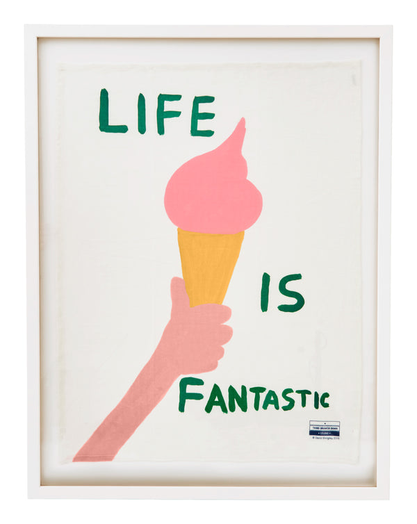 Framed David Shrigley Tea Towels