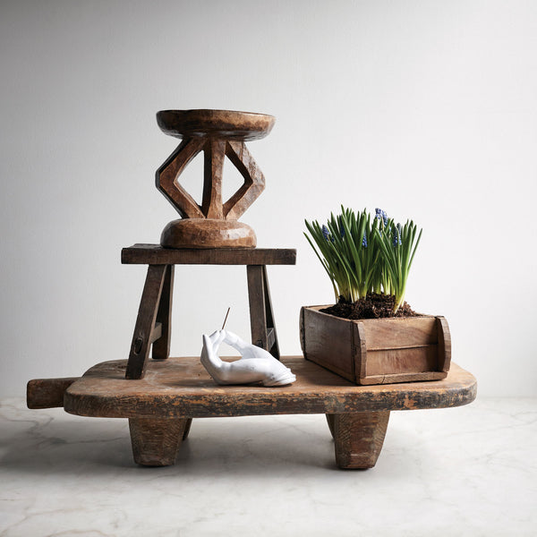 Vintage Chinese Wood Stool