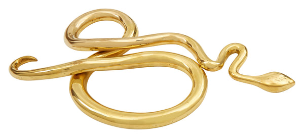 Brass Snake Sculpture