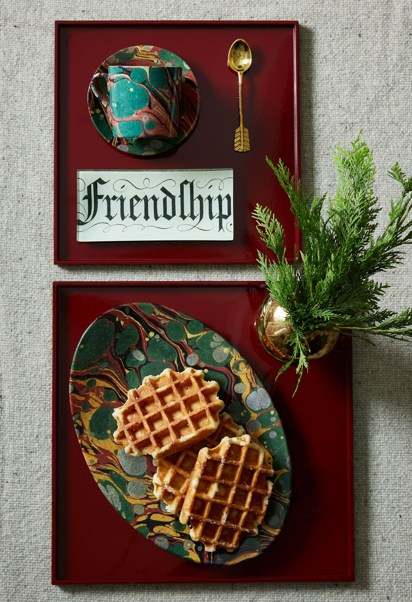 Friendship Rectangular Tray
