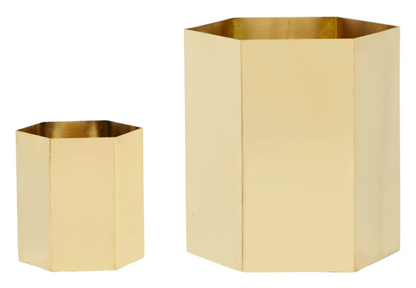 Brass Hex Containers