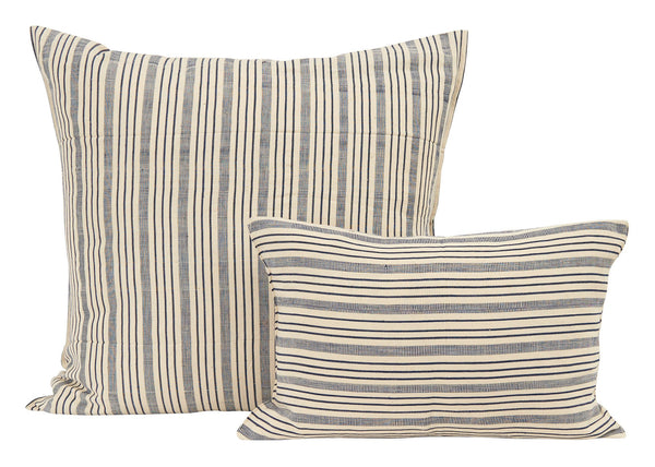 Off White and Navy Stripe Pillows