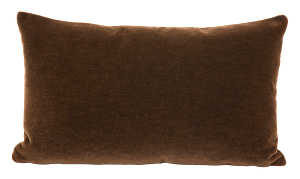 Chocolate Mohair Pillows