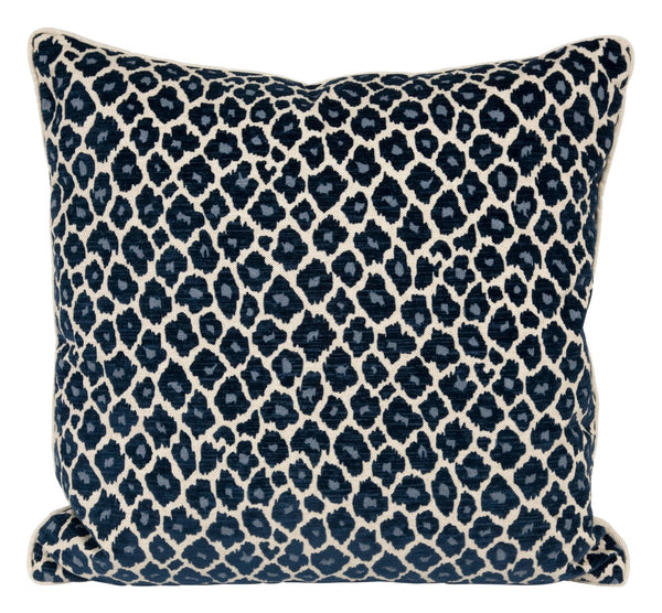 Navy Leopard Pillows