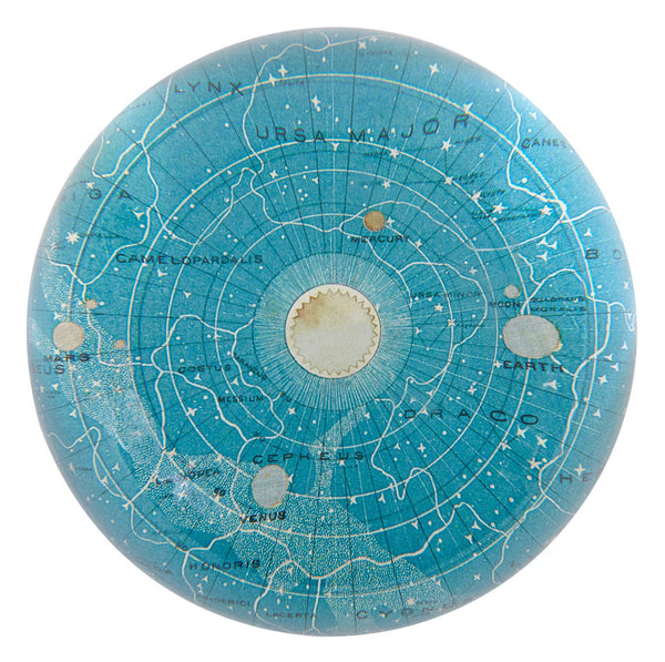 Blue Universe Dome Paperweight