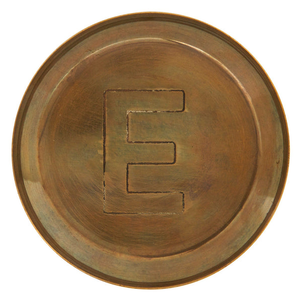 Brass Alphabet Coasters