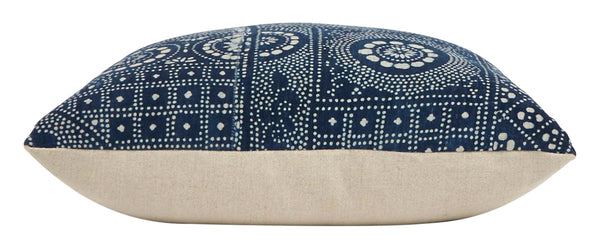 "Indigo Batik Pillow - 20"" Square"