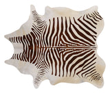Faux Zebra Hide - Brown