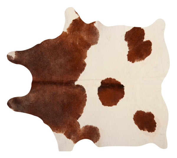Natural Brown and White Cowhide
