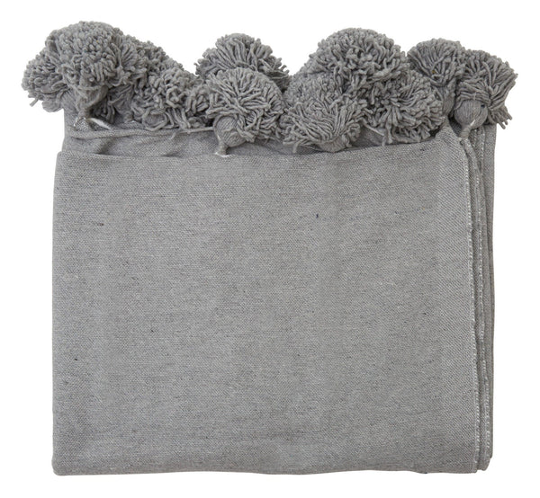 Pom Cotton Solid Blankets