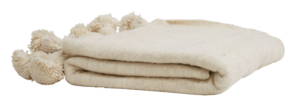 Pom Wool Solid Blankets