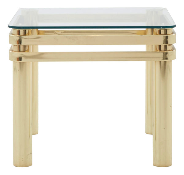 Vintage Brass End Table