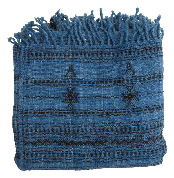 Adhira Throw - Indigo & Charcoal