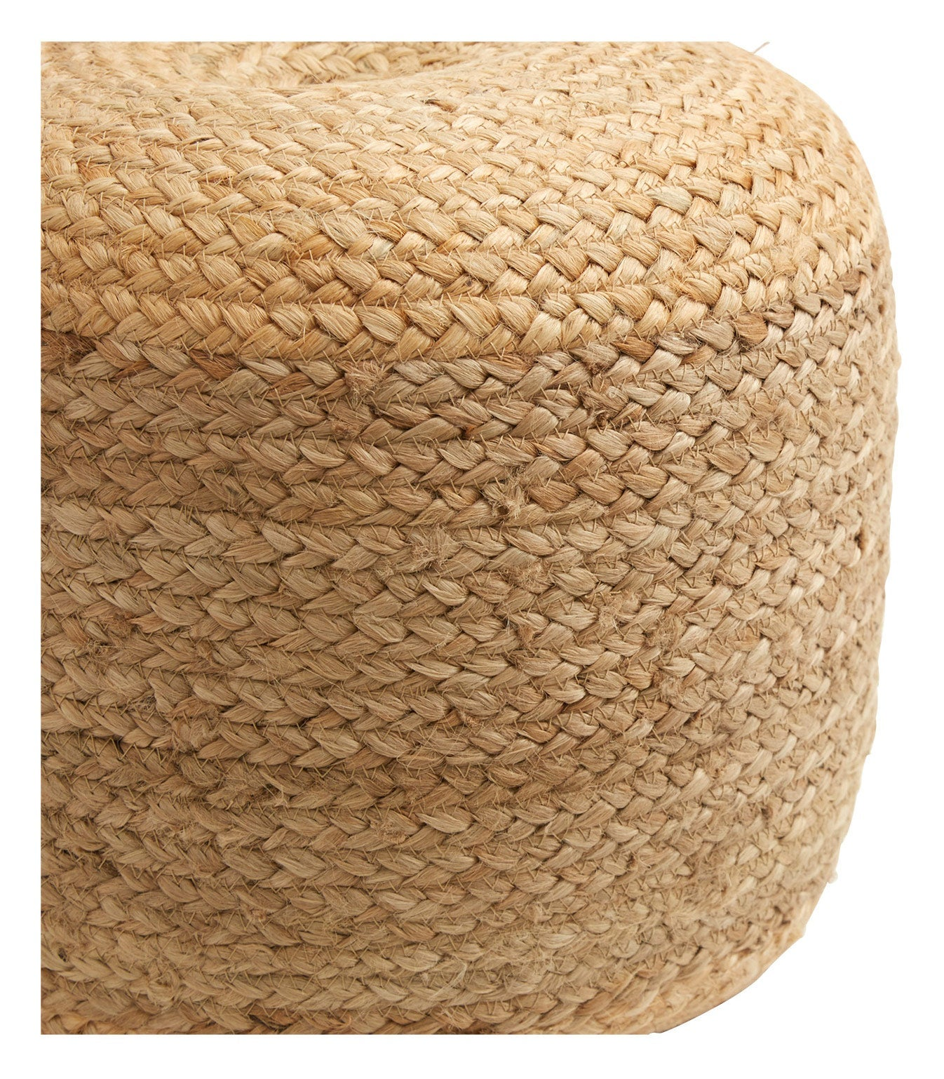 Jute Braided Pouf