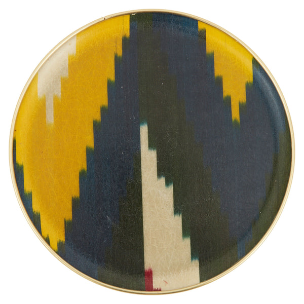 Multicolored Ikat Tray - Round