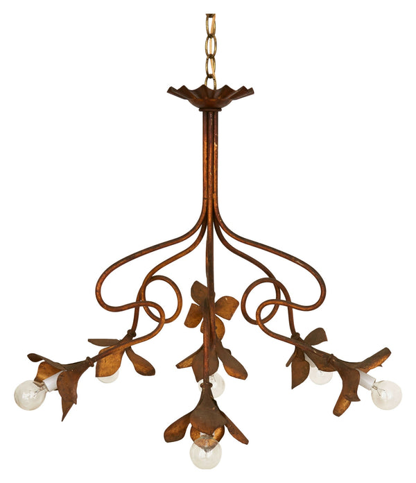 Vintage Gilt Flower Chandelier