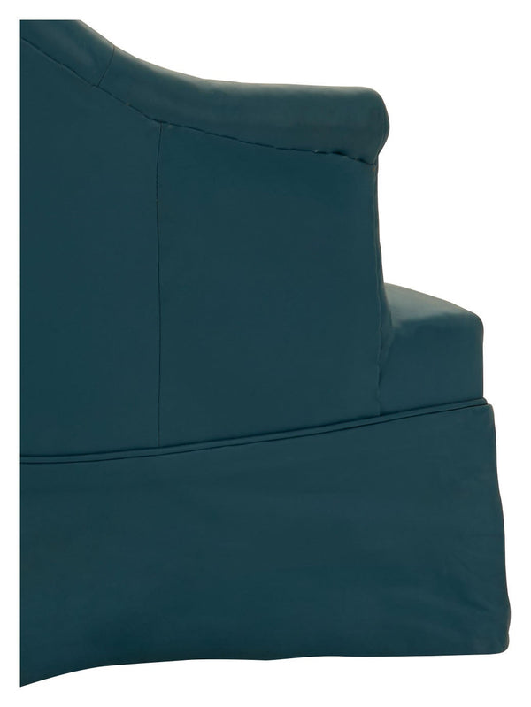Vintage Blue Leather Settee