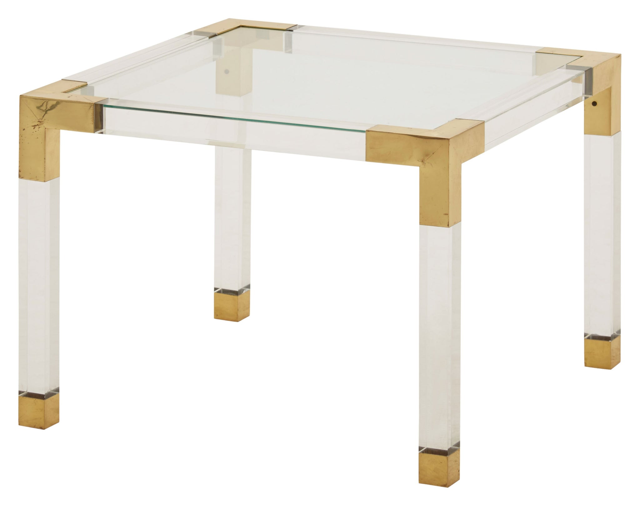 Vintage Square Lucite Table