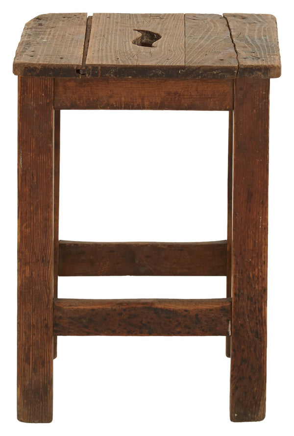 Vintage Square Spanish Stool