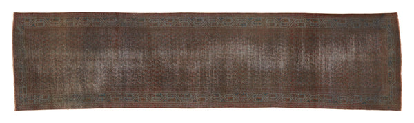 "Vintage Overdyed Rug - 13'3"" x 3'4"""