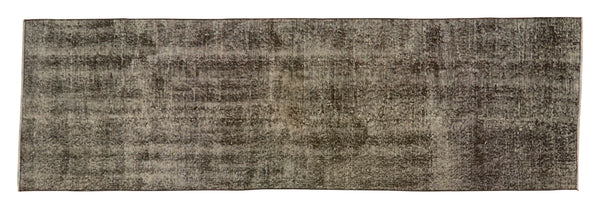 "Vintage Overdyed Rug - 8'6"" x 2'8"""