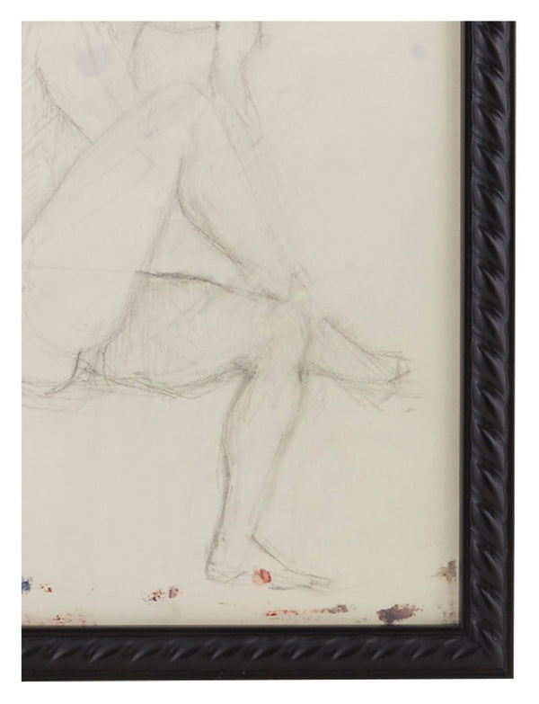 Vintage French Figure Study - Rope Frame #1