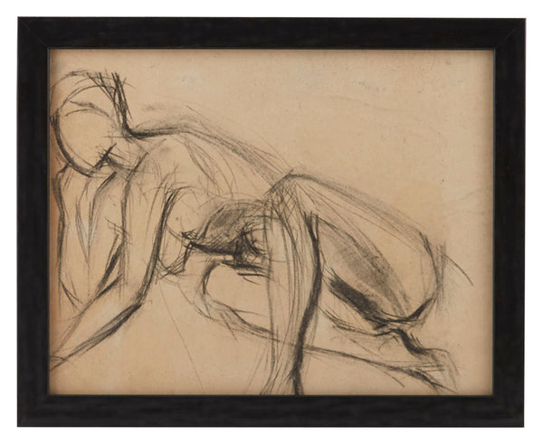 Vintage French Figure Study - Simple Frame #7