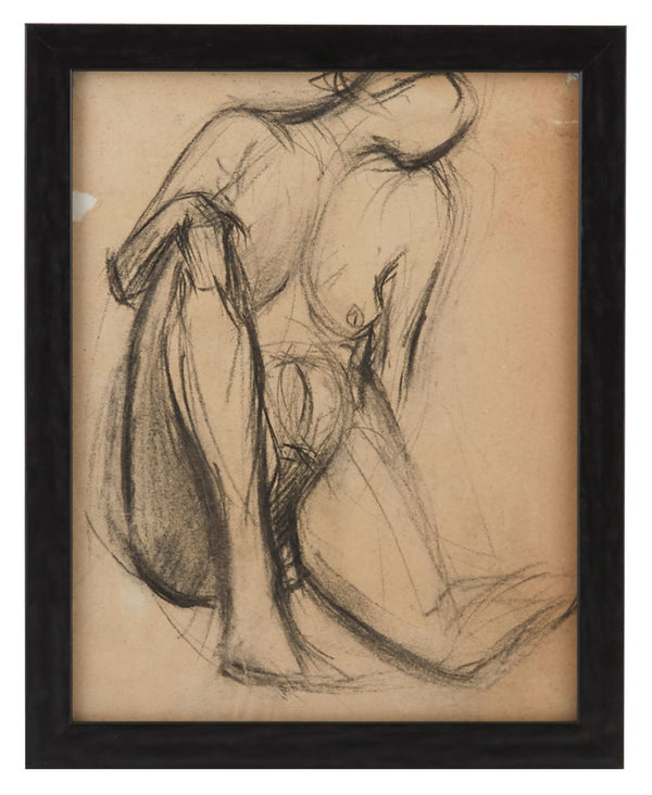 Vintage French Figure Study - Simple Frame #8