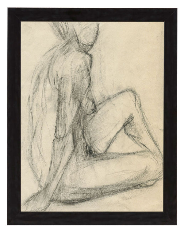 Vintage French Figure Study - Simple Frame #2