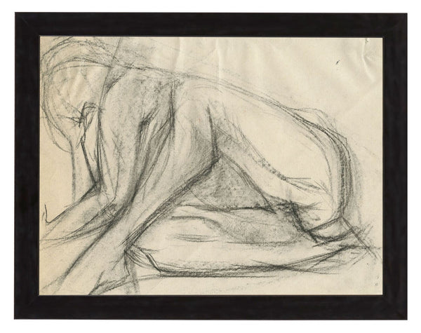 Vintage French Figure Study - Simple Frame #4