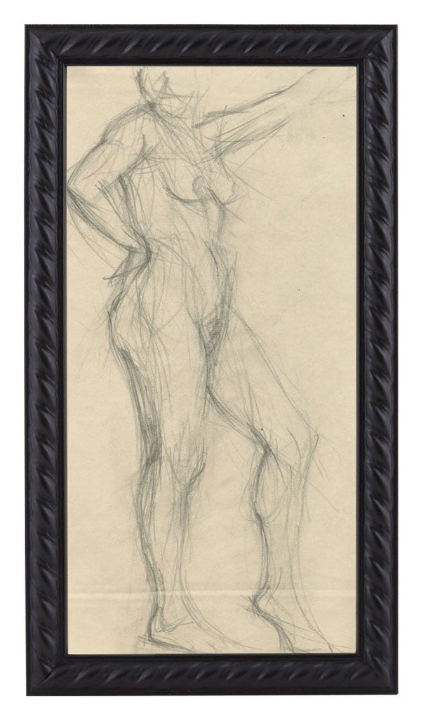 Vintage French Figure Study - Rope Frame #3