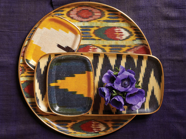 Multicolored Ikat Tray - Small