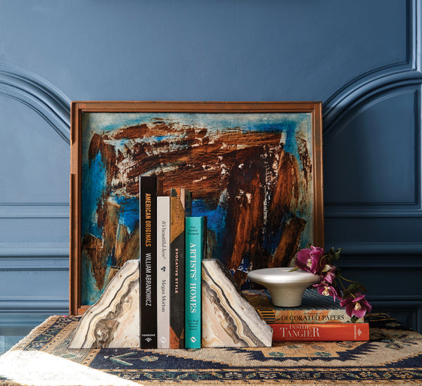 Zebra Onyx Bookend