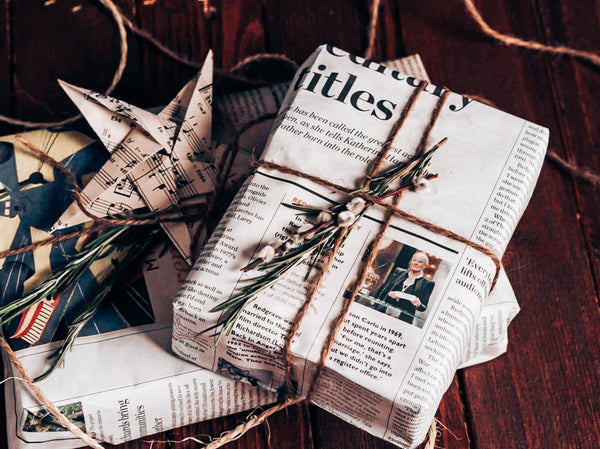 Newspaper Christmas Wrapping Paper