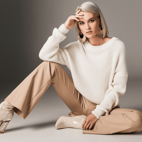 Neutral Fashion Outfit in Block Colours