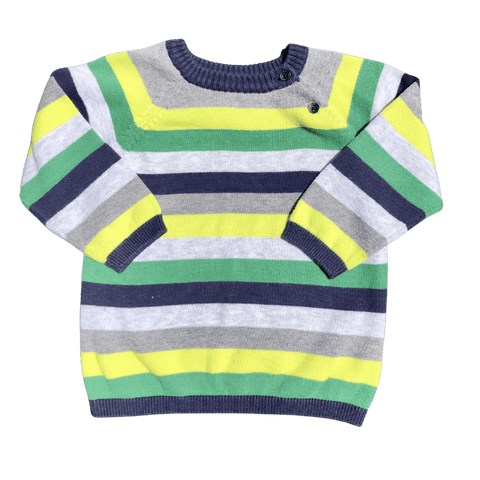 Toddles Sustainable Second Hand Baby Clothes Baby boys stripe jumper with brand H&M