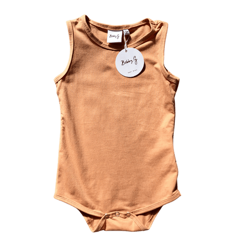 Toddles Sustainable Second Hand Baby Clothes Unisex singlet bodysuit with brand Bobby G