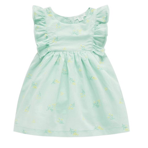 Toddles Sustainable Second Hand Baby Clothes Baby girls mimosa dress with brand Purebaby