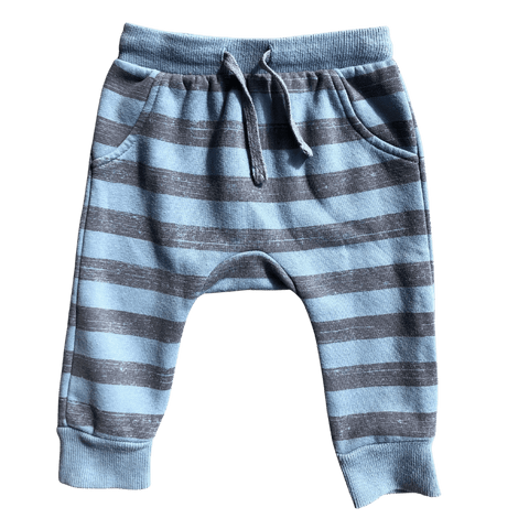 Toddles Sustainable Second Hand Baby Clothes Baby boys stripes sweatpants with brand Target