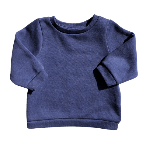 Toddles Sustainable Second Hand Baby Clothes Unisex navy sweater with brand Dymples