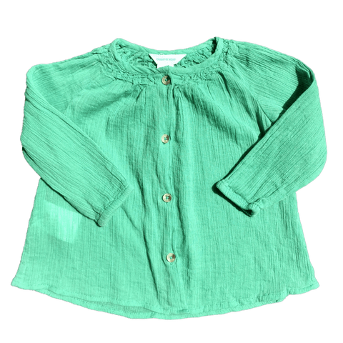 Toddles Sustainable Second Hand Baby Clothes Baby girls blouse with brand Country Road