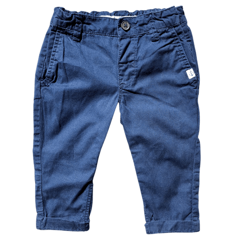Toddles Sustainable Second Hand Baby Clothes Baby boys navy chinos with brand H&M