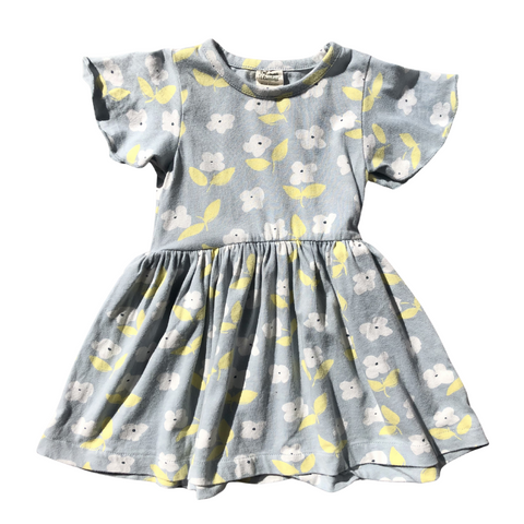 Toddles Sustainable Second Hand Baby Clothes Baby girls frill dress with brand Naturebaby