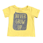 Toddles Sustainable Second Hand Baby Clothes Baby  boys never  grow up tee