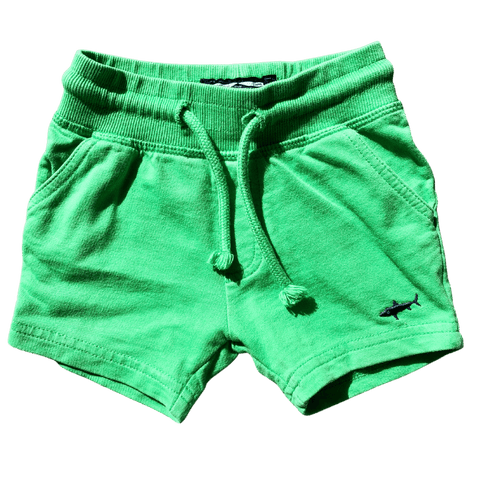 Toddles Sustainable Second Hand Baby Clothes Baby boys green shorts with brand Next Baby