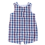 Toddles Sustainable Second Hand Baby Clothes Baby boys ollies place check romper