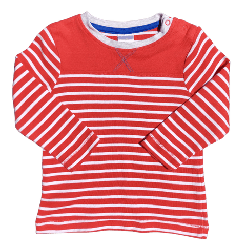 Toddles Sustainable Second Hand Baby Clothes Unisex stripe jumper with brand Target