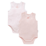 Toddles Sustainable Second Hand Baby Clothes Baby girls singlet bodysuits with brand Purebaby