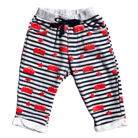 Toddles Sustainable Second Hand Baby Clothes Baby boys red car sweatpants